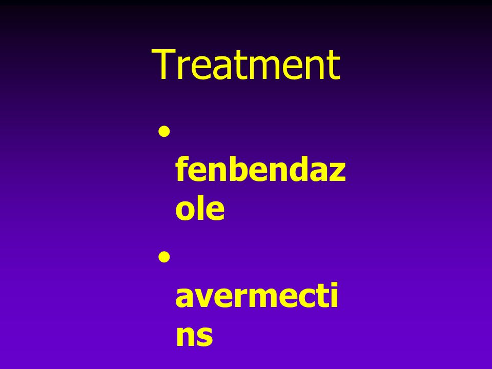 Treatment fenbendazole avermectins