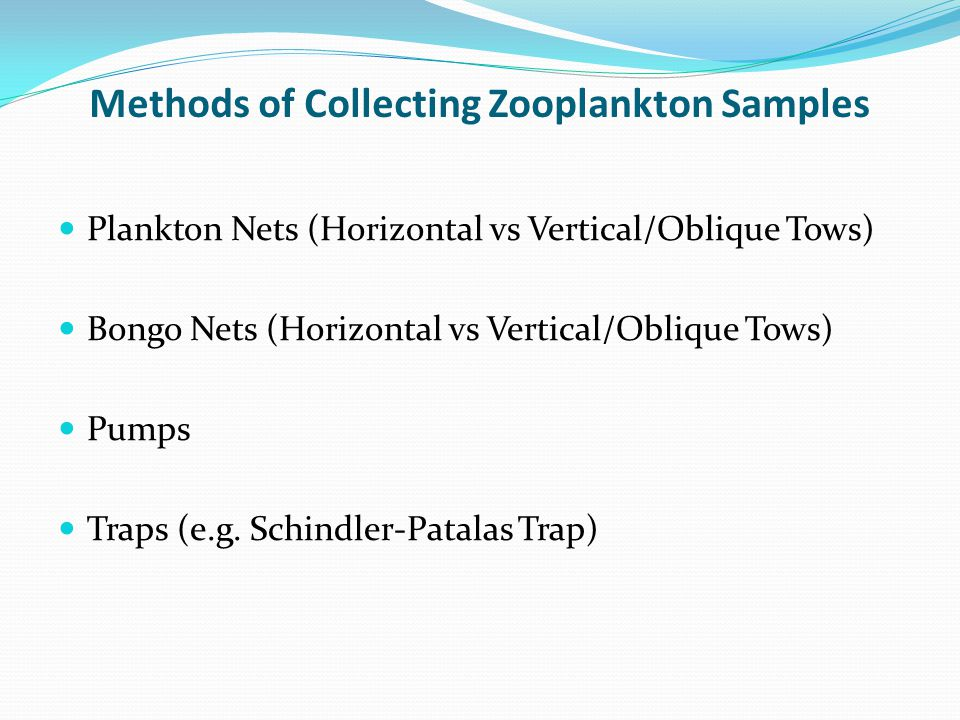 Methods of Collecting Zooplankton Samples