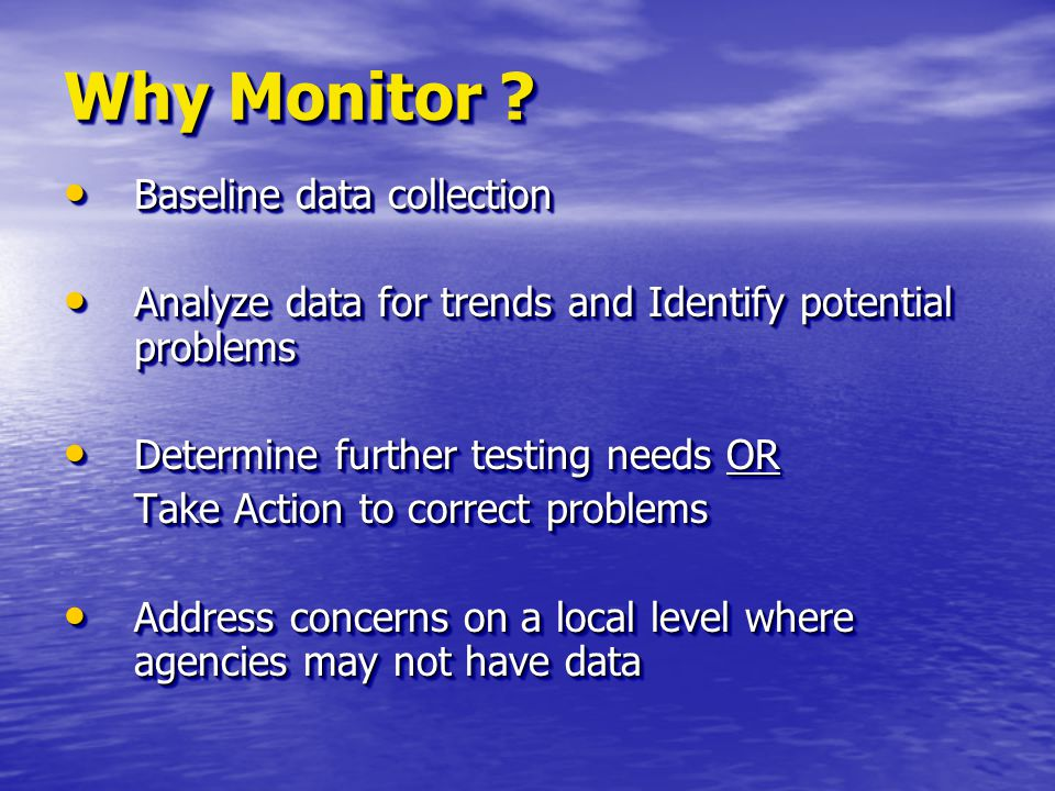 Volunteer WQ Monitoring Overview