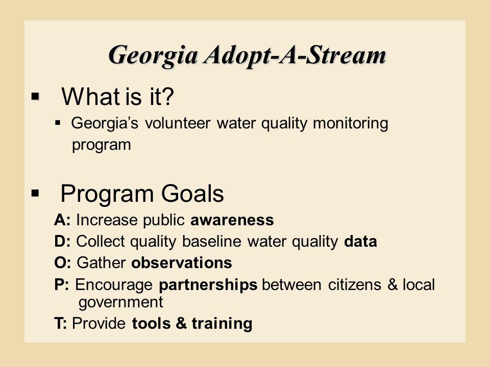 Georgia Adopt-A-Stream