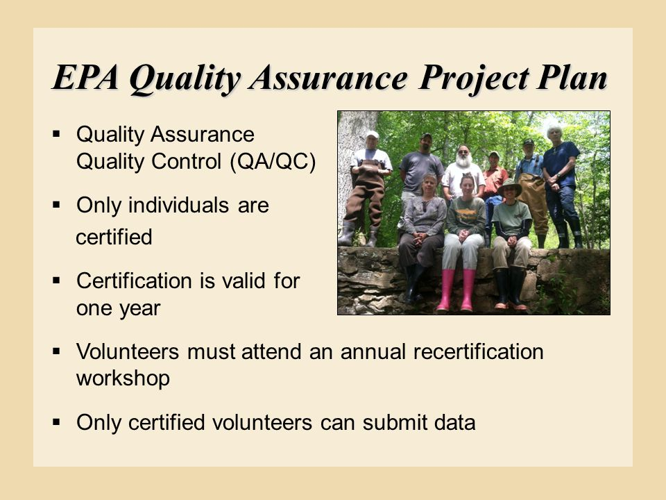 EPA Quality Assurance Project Plan
