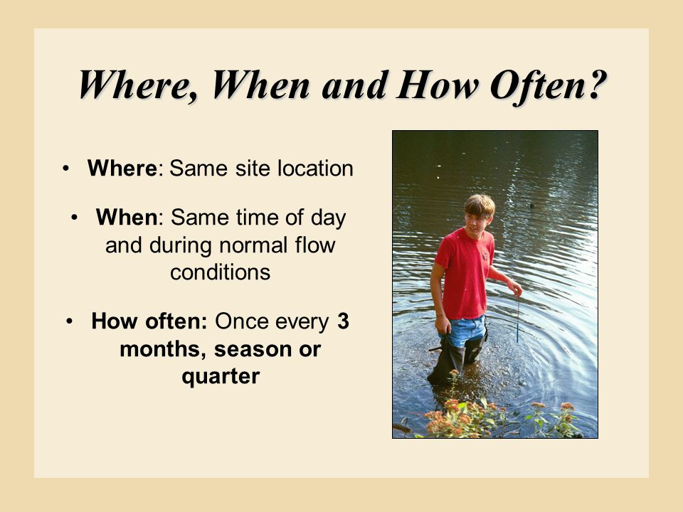 Where, When and How Often