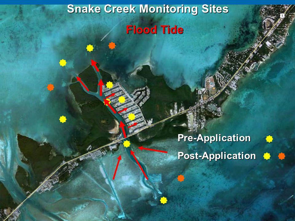 Snake Creek Monitoring Sites Flood Tide
