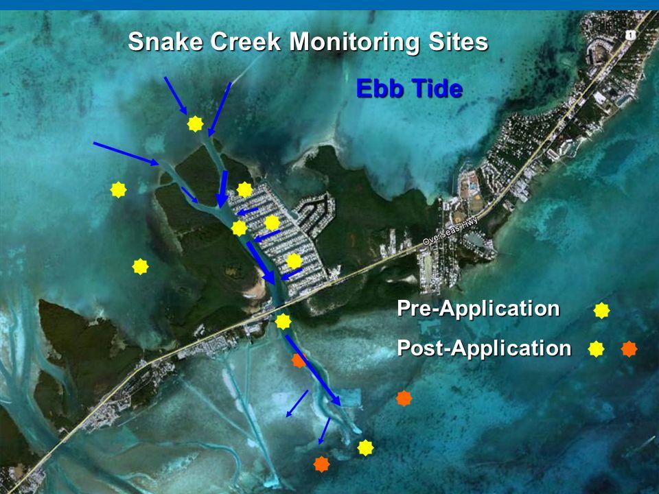 Snake Creek Monitoring Sites Ebb Tide