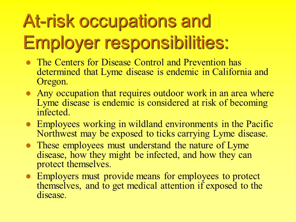 At-risk occupations and Employer responsibilities: