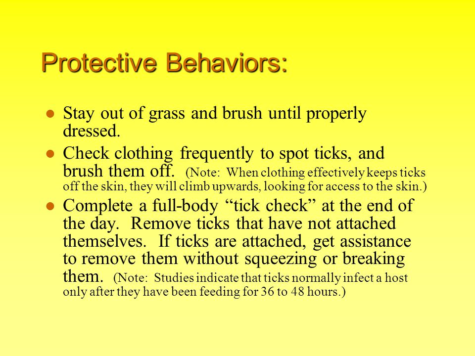 Protective Behaviors: