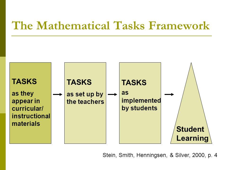 The Mathematical Tasks Framework