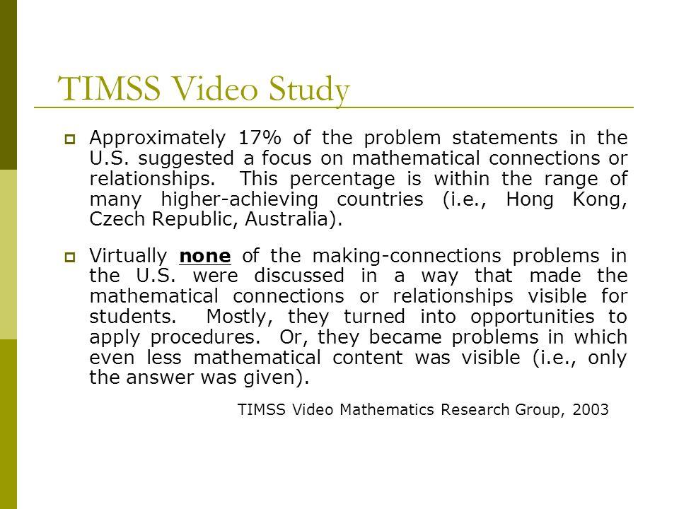 TIMSS Video Study