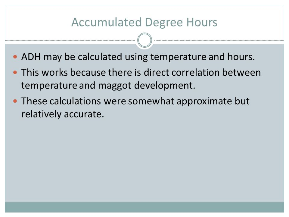 Accumulated Degree Hours