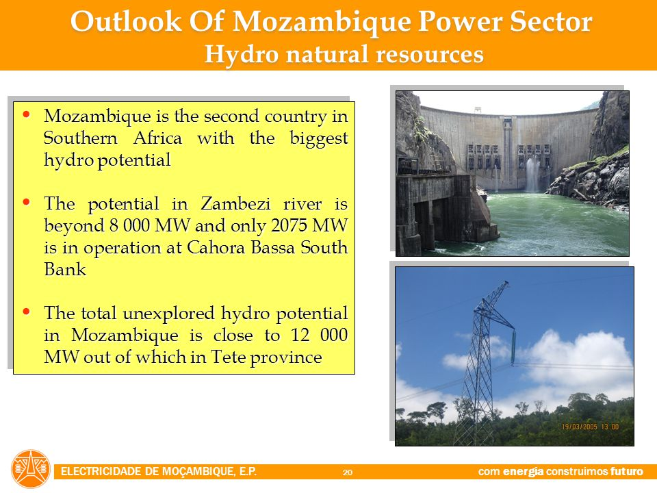 Outlook Of Mozambique Power Sector Hydro natural resources