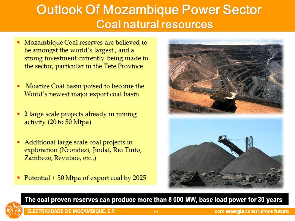 Outlook Of Mozambique Power Sector Coal natural resources