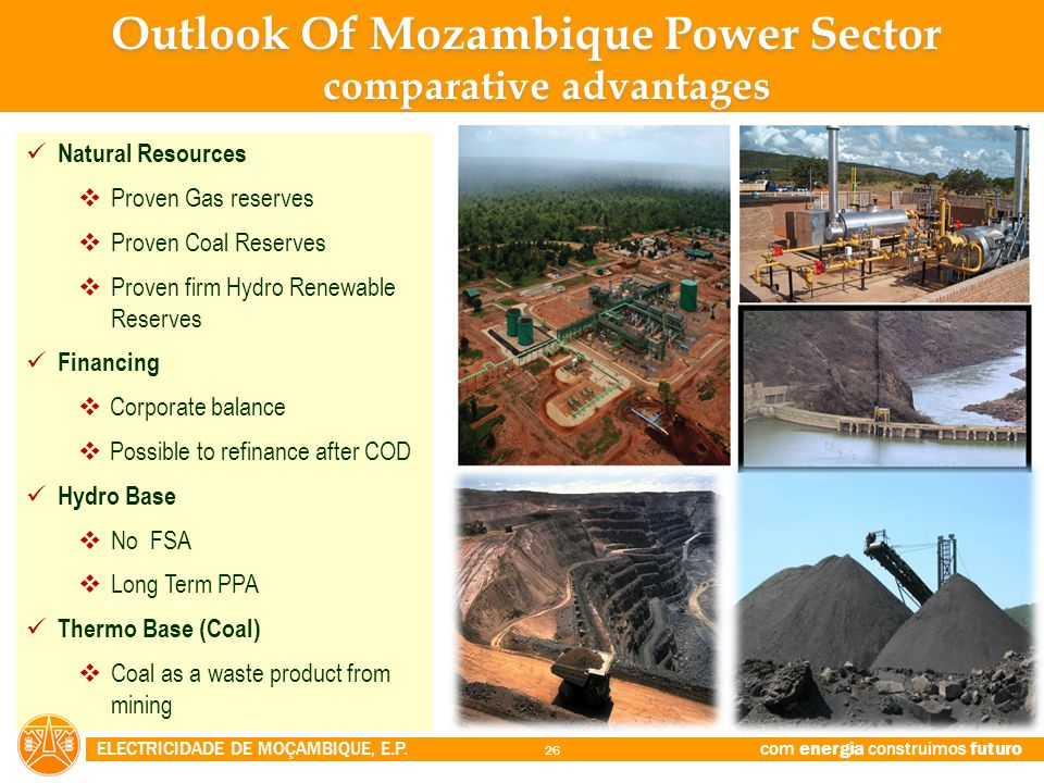 Outlook Of Mozambique Power Sector comparative advantages