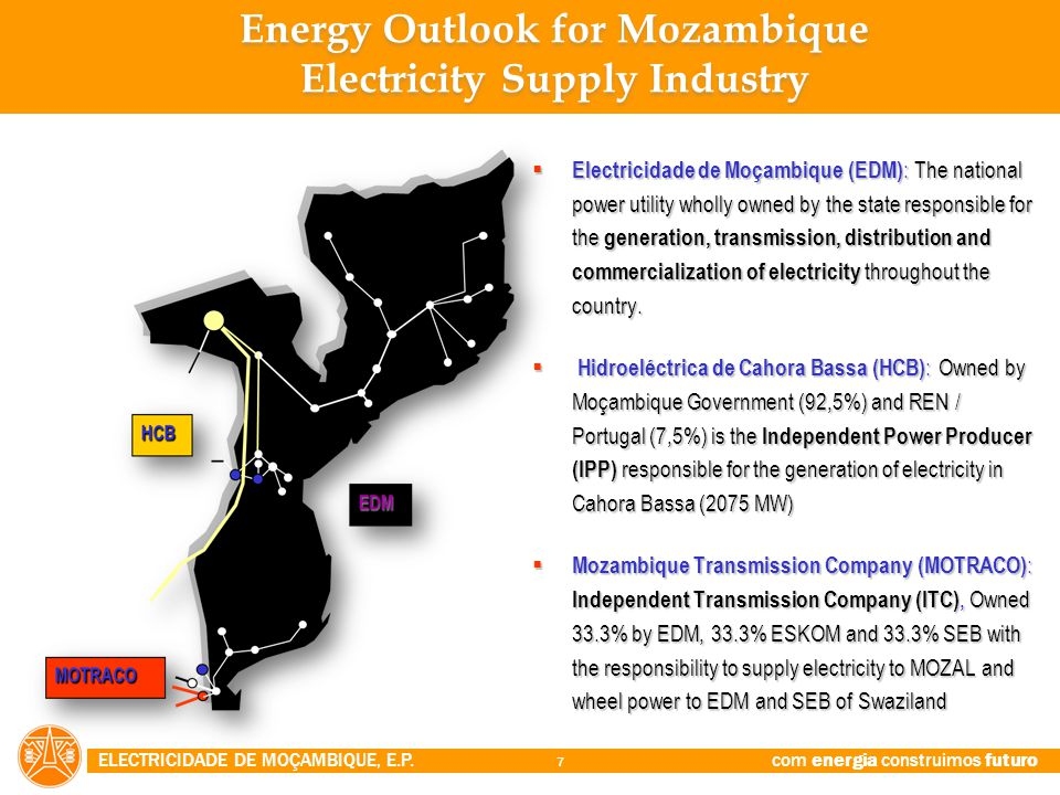 Energy Outlook for Mozambique Electricity Supply Industry