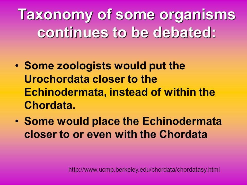 Taxonomy of some organisms continues to be debated: