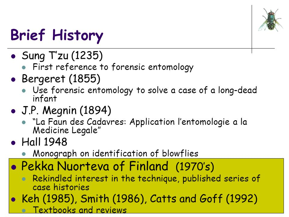 Brief History Pekka Nuorteva of Finland (1970's) Sung T'zu (1235)