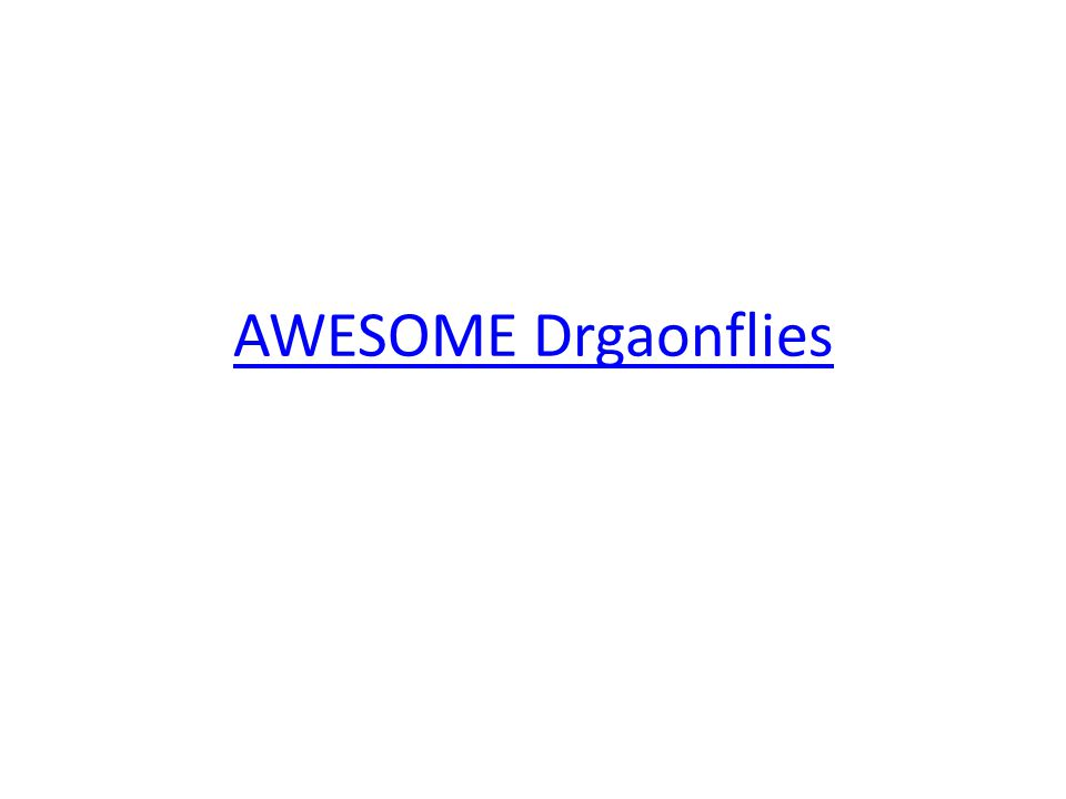 AWESOME Drgaonflies