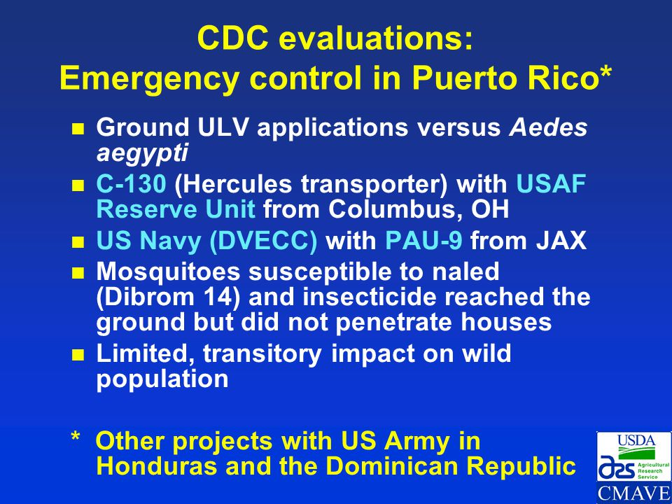 CDC evaluations: Emergency control in Puerto Rico*