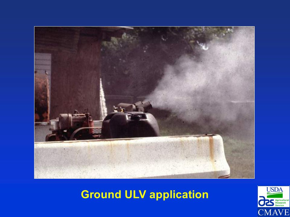 Ground ULV application