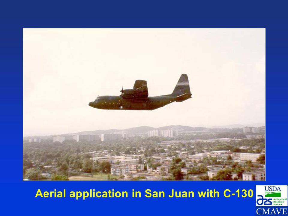 Aerial application in San Juan with C-130