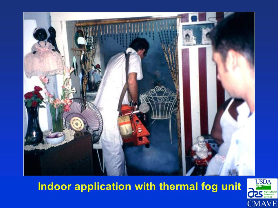 Indoor application with thermal fog unit