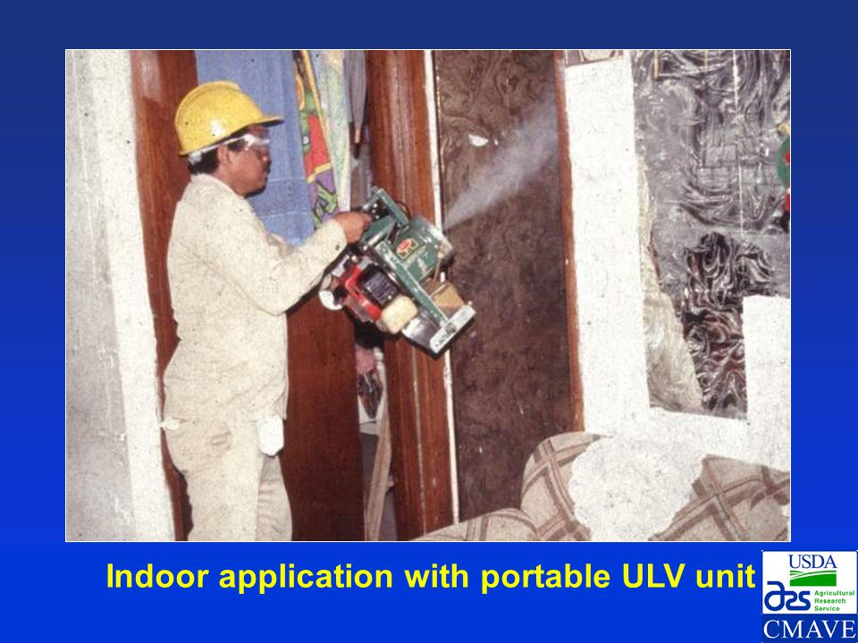 Indoor application with portable ULV unit