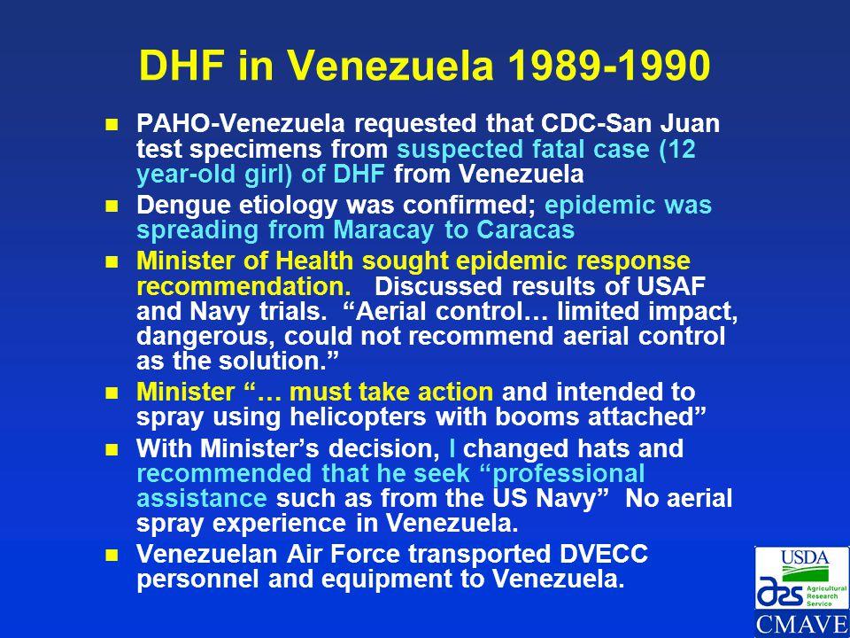 DHF in Venezuela 1989-1990