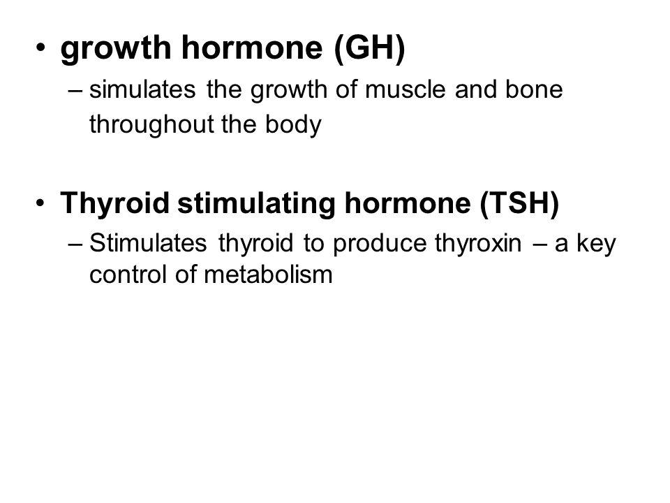growth hormone (GH) Thyroid stimulating hormone (TSH)