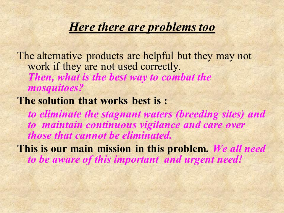 Here there are problems too