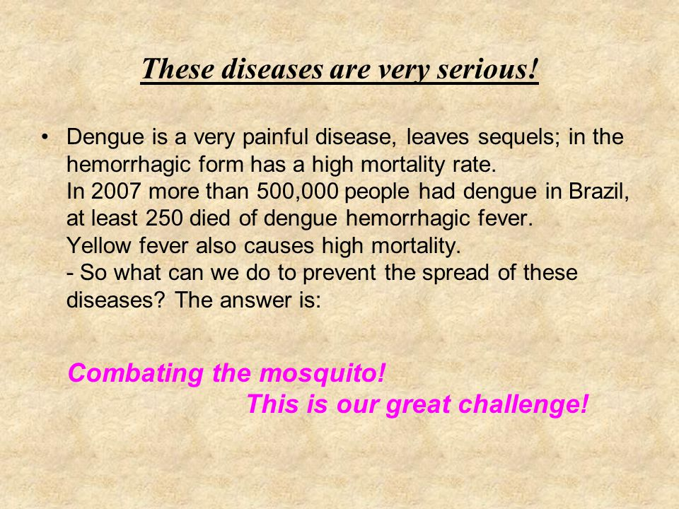 These diseases are very serious!