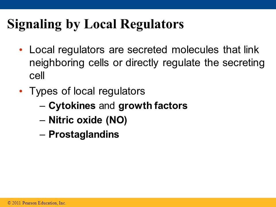 Signaling by Local Regulators