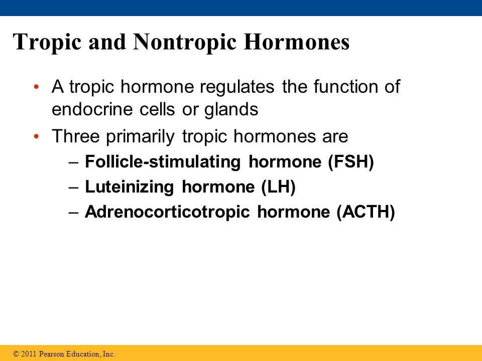 Tropic and Nontropic Hormones