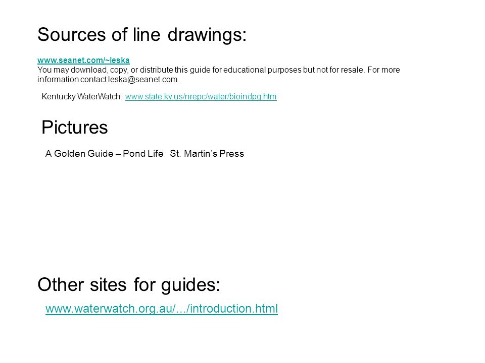 Sources of line drawings: