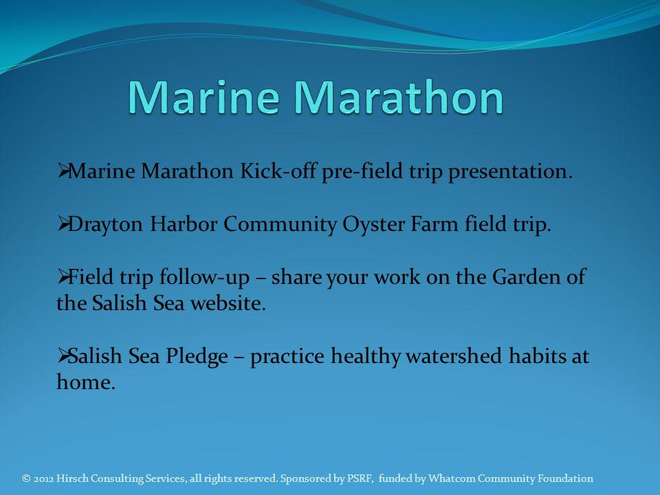 Marine Marathon Marine Marathon Kick-off pre-field trip presentation.