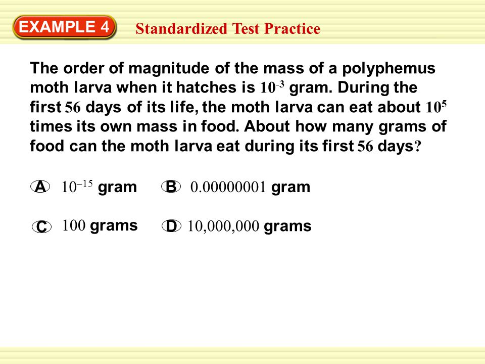 EXAMPLE 4 Standardized Test Practice.