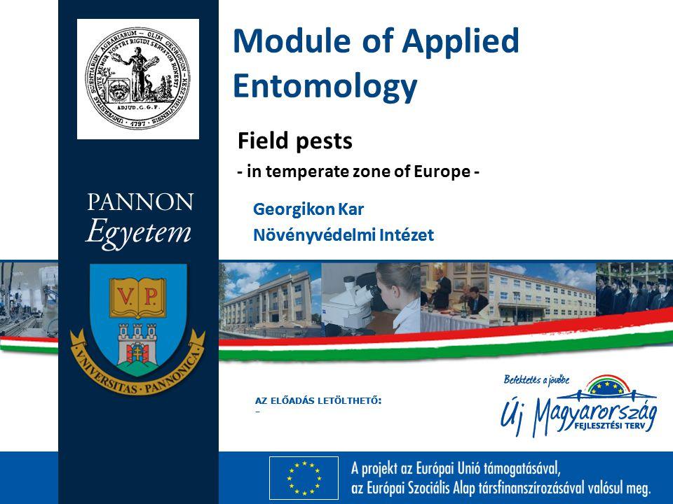 Module of Applied Entomology