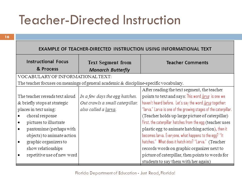 Teacher-Directed Instruction