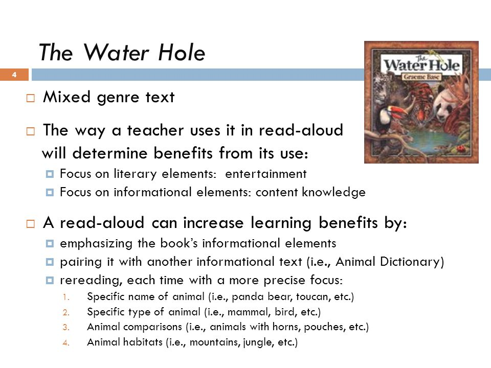 The Water Hole Mixed genre text