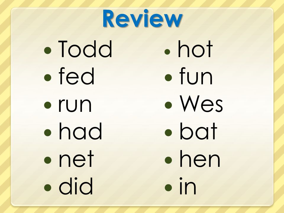 Review Todd fed run had net did hot fun Wes bat hen in