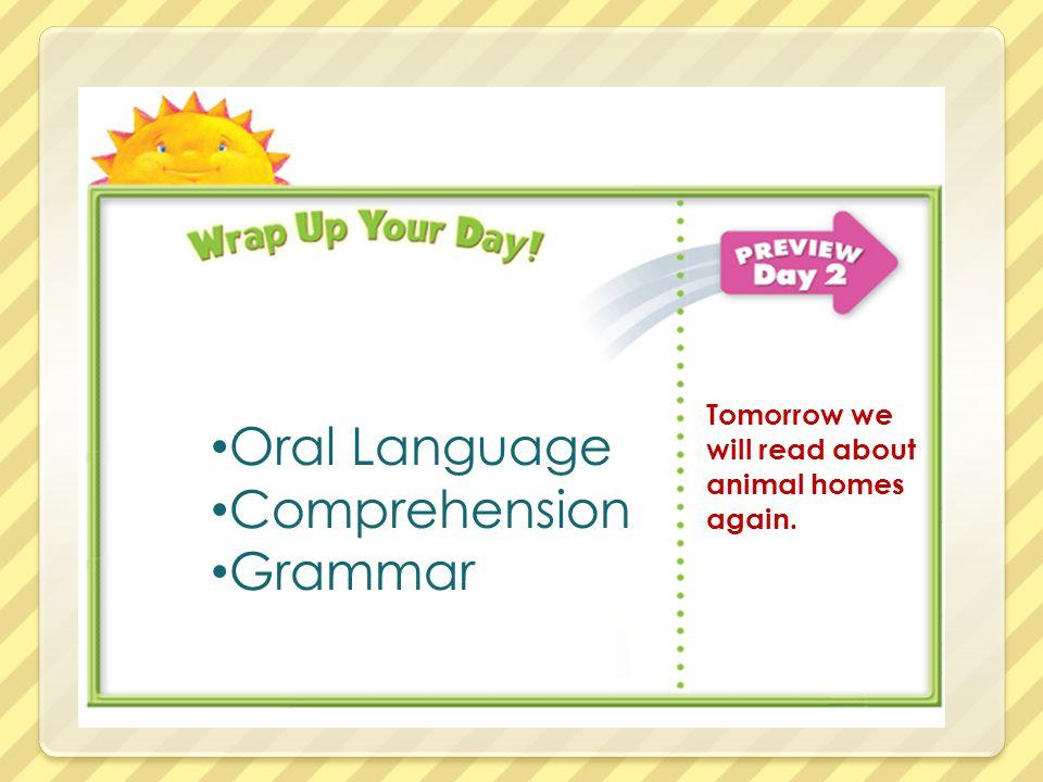 Oral Language Comprehension Grammar
