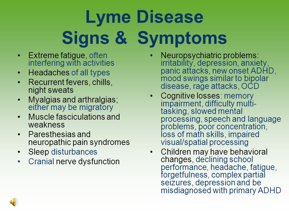 Lyme Disease Signs & Symptoms