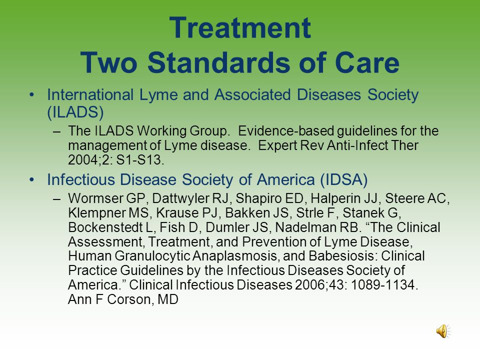 Treatment Two Standards of Care