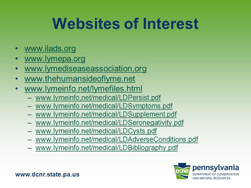 Websites of Interest www.ilads.org www.lymepa.org