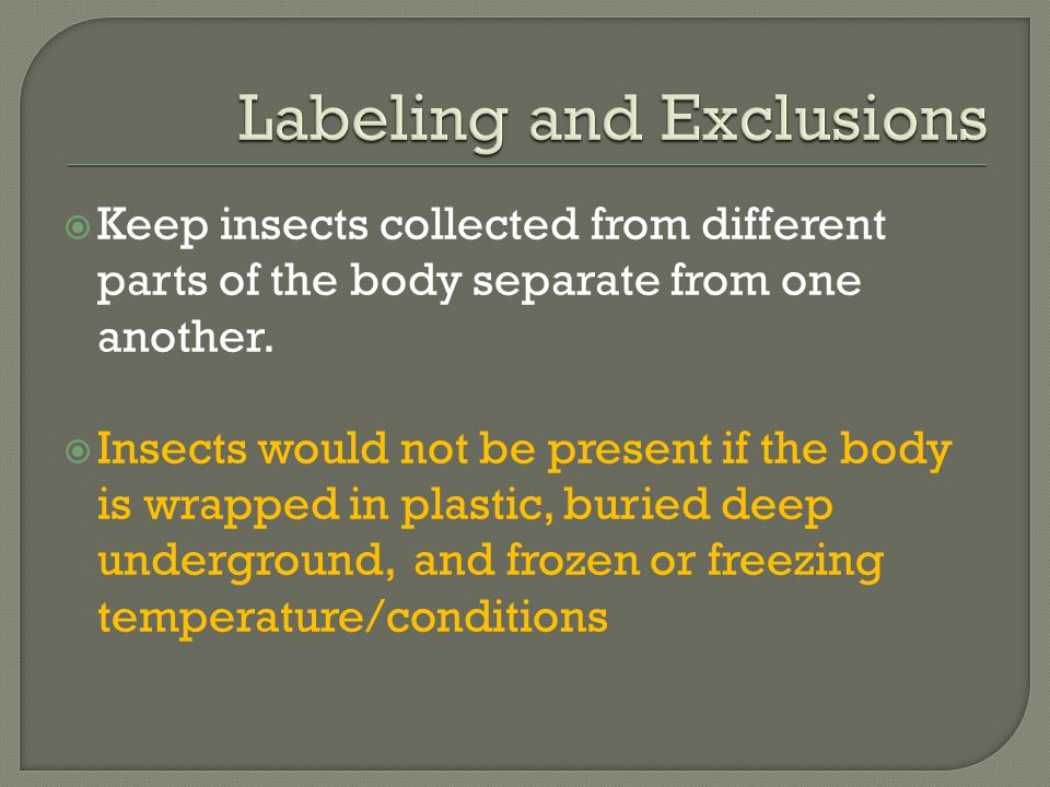 Labeling and Exclusions