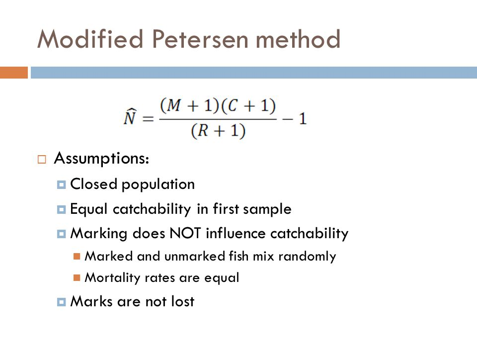 Modified Petersen method