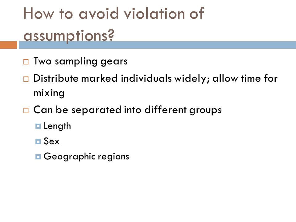 How to avoid violation of assumptions