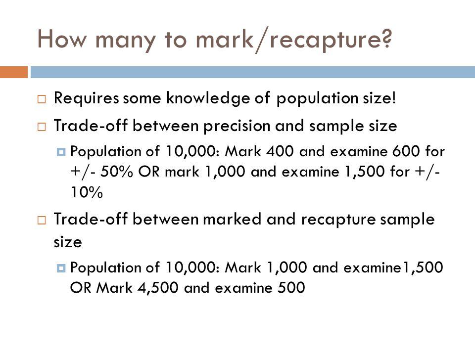 How many to mark/recapture