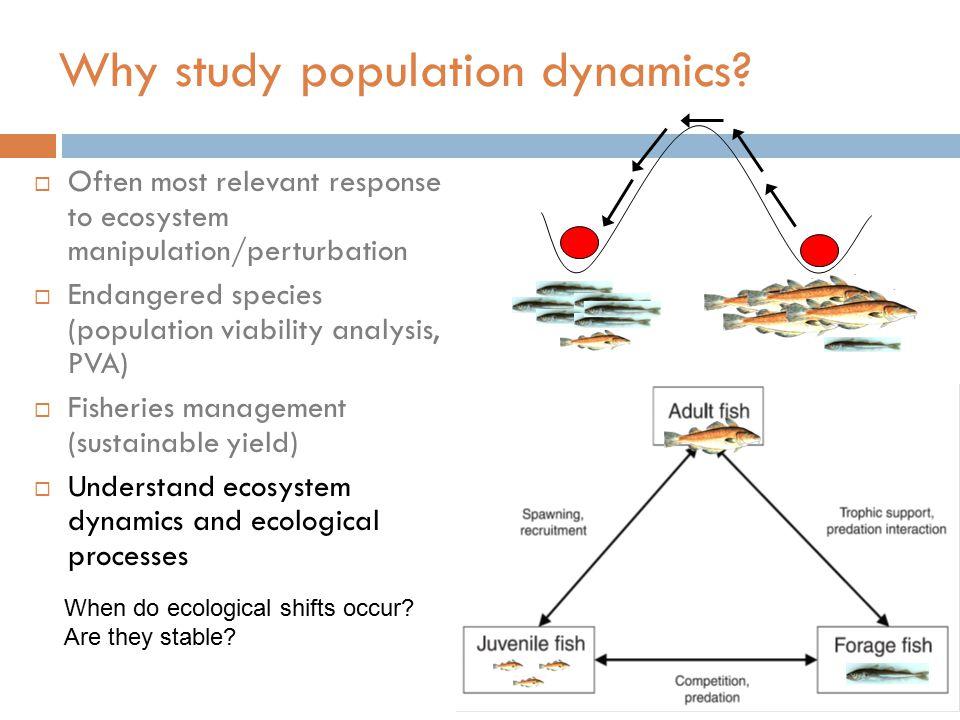 Why study population dynamics