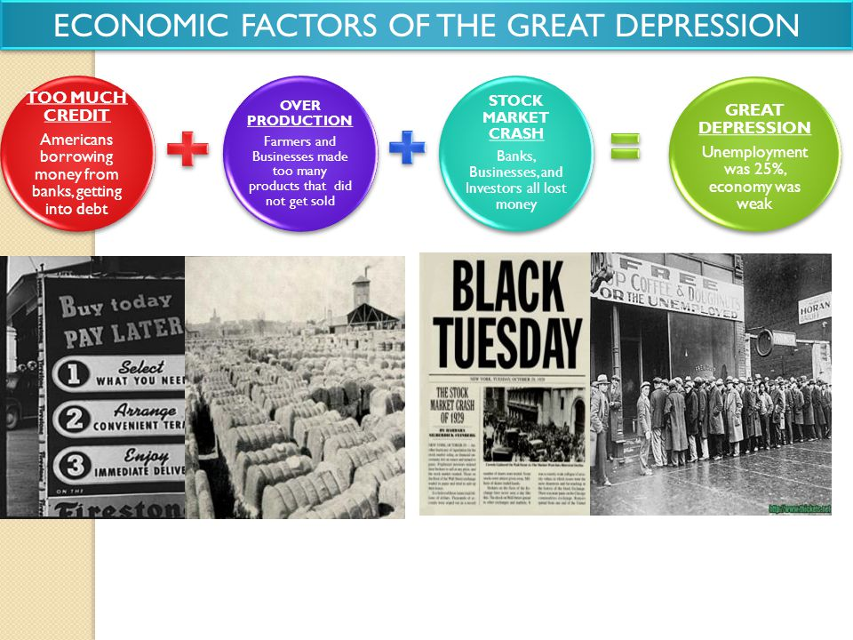 ECONOMIC FACTORS OF THE GREAT DEPRESSION