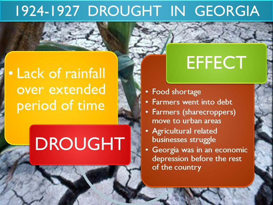 EFFECT DROUGHT 1924-1927 DROUGHT IN GEORGIA