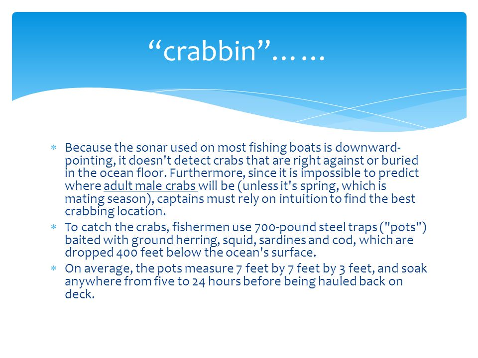 crabbin ……